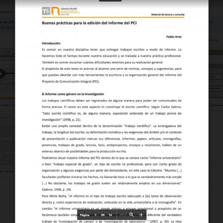 Edición informe